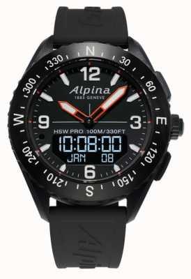 Alpina Alpinerx Smartwatch schwarzes Kautschukband AL-283LBB5AQ6