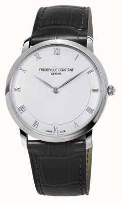 Frederique Constant Herren Automatik Slimline schwarzes Lederarmband FC-200RS5S36