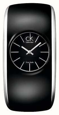 Calvin Klein Gloss Frauen alle schwarze Uhr K6093101