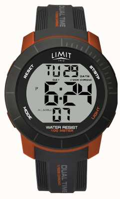 Limit Active Dual Dual Zeit Chrono grau / orange 5676.66