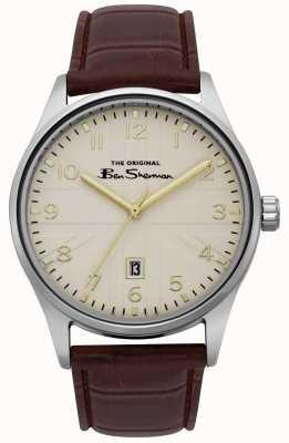 Ben Sherman Herren matt-weißes Zifferblatt aus Silber und Gold mit zwei Tönen BS017BR