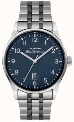 Ben Sherman Herren Matt Uhr | blaues Zifferblatt | Edelstahlarmband | BS017USM