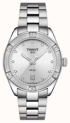 Tissot Ladies pr 100 Sport schicke Diamant-Set Datumsanzeige T1019101103600