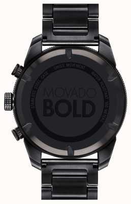 Movado Der mutige schwarze IP-überzogene Sportchronograph der Männer 3600514