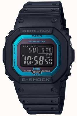 Casio G-Schock-Bluetooth-Harzband mit Funksteuerung schwarz / blau GW-B5600-2ER