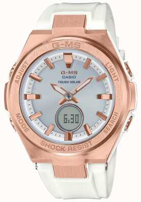 Casio G-MS Baby-g Roségold solarbeweises solides Armband MSG-S200G-7AER