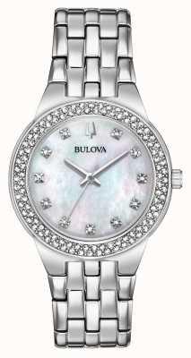 Bulova Damen Kristall Uhr und Anhänger Geschenkset 96X144