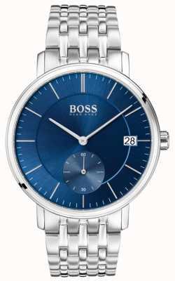Boss Korporales blaues Zifferblatt aus Edelstahl 1513642