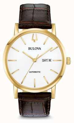 Bulova Herren American Clipper automatische gold pvdwatch 97C107