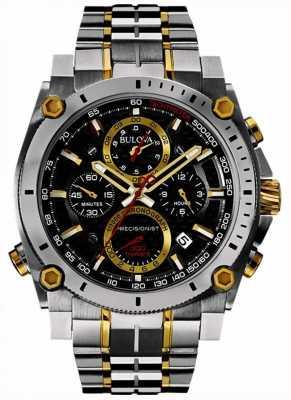 Bulova Präzisionsuhr aus Edelstahl und Gold für Herren 98B228
