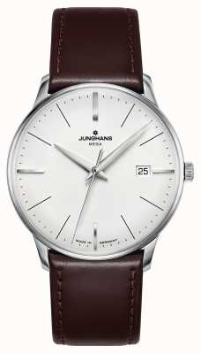 Junghans Meister mega mf braunes Lederband 058/4800.00