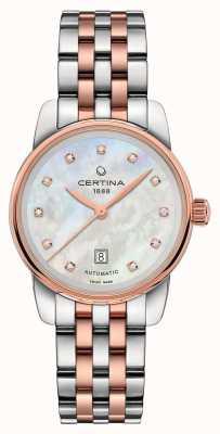Certina | ds podium | Dame automatisch | zweifarbiges Armband | C0010072211600