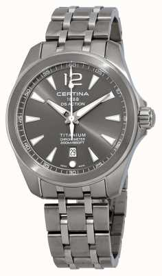Certina Mens ds action watch graues Zifferblatt aus Titanarmband C0328514408700