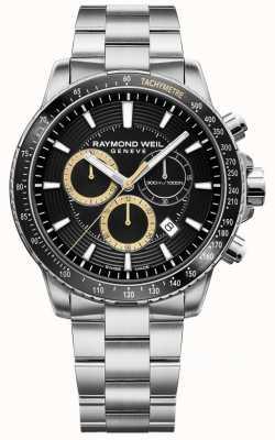 Raymond Weil Herren Tango 300 Uhr Edelstahlarmband schwarz Chrono 8570-ST1-20701