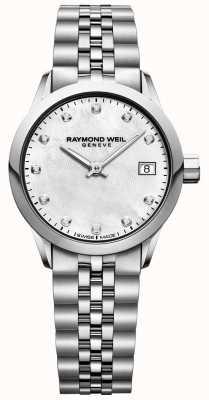 Raymond Weil Freiberufliche Perlmutt-Diamantuhr für Damen 5626-ST-97081