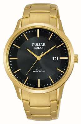 Pulsar Mens vergoldetes Solar-Datumszifferblatt PX3162X1