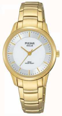 Pulsar Damen vergoldet Solar Silber Zifferblatt PY5042X1