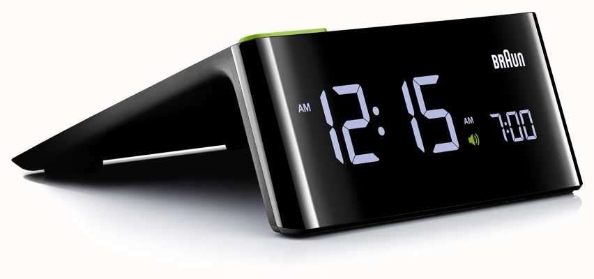 Braun Digitaler Nachtwecker   LCD Bildschirm BNC016BKUK