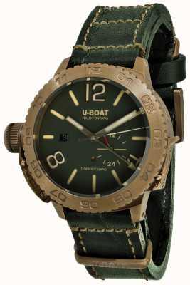 U-Boat Doppiotempo 46 bronzo gr automatisches grünes Lederband 9088