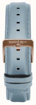 Weird Ape Puderblaues Lederband mit 16 mm Band und roségoldener Schnalle ST01-000029