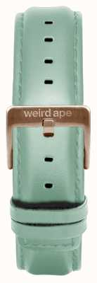 Weird Ape Mintgrünes Leder 16mm Band Roségold Schnalle ST01-000042