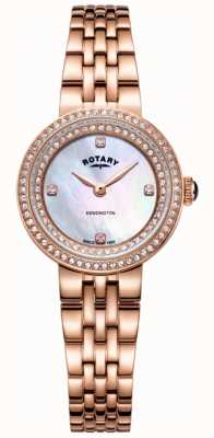 Rotary Armbanduhr aus Kensington-Roségold für Damen LB05374/41
