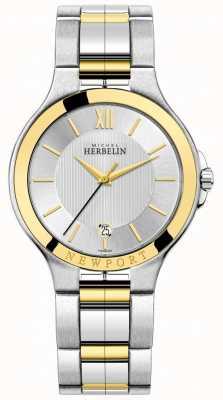 Michel Herbelin Herren newport royale zweifarbiges Armband aus Silber und Gold 12298/BT11