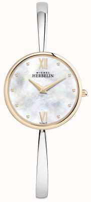 Michel Herbelin Ladies Rose Gold Uhr Silber Armreif 17418/BTR19