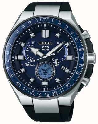 Seiko Mens gps Astron Solaruhr blaues Zifferblatt SSE167J1