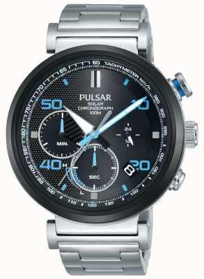 Pulsar Ex-Display - Solar Chronograph Uhr aus Edelstahl für Herren PZ5065X1-EX-DISPLAY
