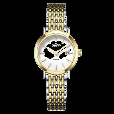 Rotary Damen Windsor zweifarbige Armbanduhr aus Gold und Silber LB05302/01
