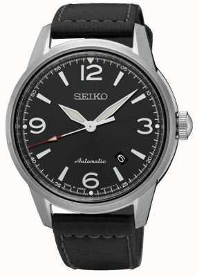 Seiko Mens presage automatische schwarze Armband schwarze Zifferblatt Uhr SRPB07J1