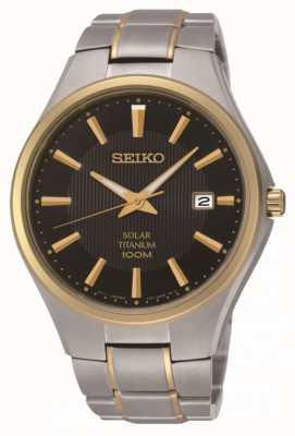Seiko Herrenarmbanduhr aus Titan mit zwei Tönen aus Titan SNE382P9