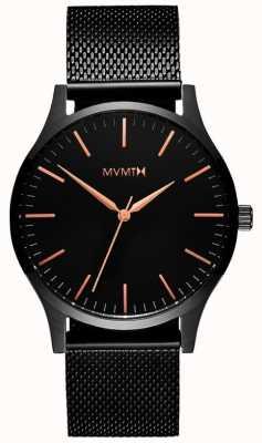 MVMT 40 Serie schwarze Rose | schwarzes pvd mesh | schwarzes Zifferblatt D-MT01-BBRG