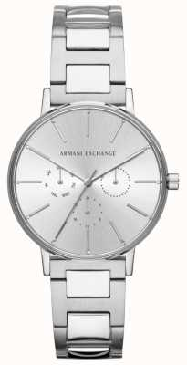 Armani Exchange Damen Lola Edelstahl Silber Chronograph Uhr AX5551