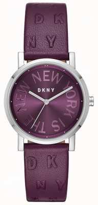 DKNY Womens Soho lila Leder lila Zifferblatt Uhr NY2762