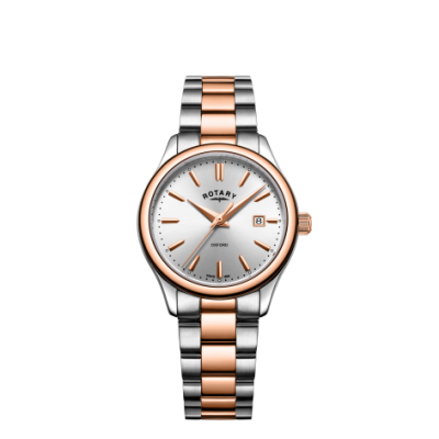 Rotary Oxford Damen zweifarbiges Armband Roségold LB05094/06