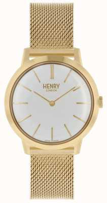 Henry London Kultige Damenuhr | edelstahl gold mesh armband | HL34-M-0232