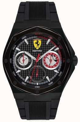 Scuderia Ferrari Herren Aspire schwarz Kautschukband schwarz Gehäuse Datumsanzeige 0830538