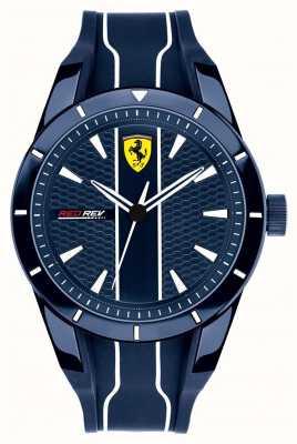 Scuderia Ferrari Mens redrev blaues Zifferblatt blau Kautschukband 0830541