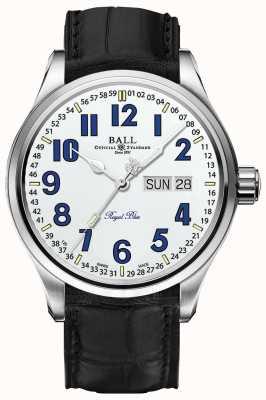 Ball Watch Company Trainmaster royalblaues weißes Zifferblatt Datum & Tag Anzeige NM1058D-LL9J-WH