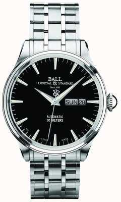 Ball Watch Company Trainmaster Eternity schwarzes Zifferblatt automatische Tages- und Datumsanzeige NM2080D-SJ-BK