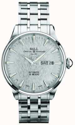 Ball Watch Company Trainmaster Ewigkeit Silber Zifferblatt automatische Datumsanzeige NM2080D-S1J-SL