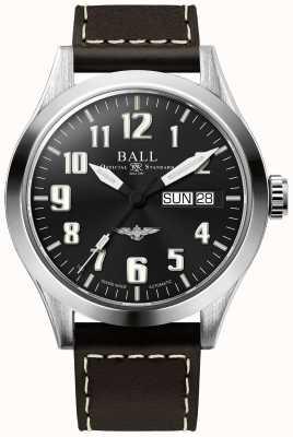 Ball Watch Company Engineer iii Silber Stern braun Lederband blaues Zifferblatt NM2182C-L3J-BE