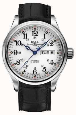 Ball Watch Company Trainmaster 60 Sekunden automatische Tag- und Datumsanzeige NM1058D-LL3FJ-WH