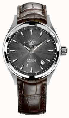Ball Watch Company Trainmaster Legende grau Sunray Zifferblatt braun Lederband NM3080D-LJ-GY