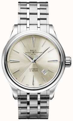 Ball Watch Company Trainmaster Legende automatische Creme Zifferblatt Edelstahl Datum NM9080D-SJ-SL