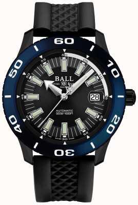 Ball Watch Company Fireman automatische necc blaue Lünette Datumsanzeige DM3090A-P5J-BK