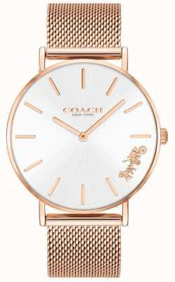 Coach Armbanduhr aus Armband mit roségoldenem Mesh für Damen 14503126
