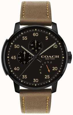 Coach Mens blecker Uhr Multifunktions-schwarzes Zifferblatt 14602339